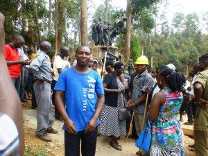 Martin artist of Kisiizi Falls Monument