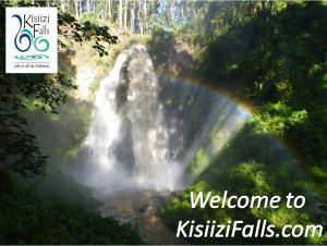 Kisiizi Falls Uganda with rainbow